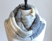 Knitting Pattern Infinity Scarf Sampler Infinity Scarf Quick and Easy Beginner Knitting Tutorial How to Knit Scarf Pattern Instant Download