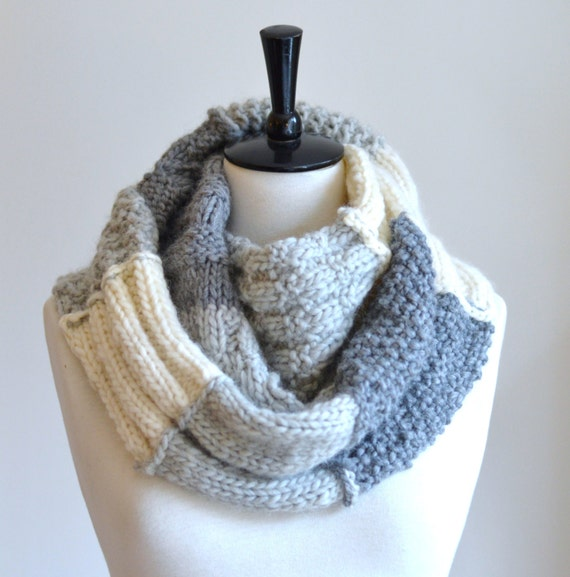 Knitting Scarf Patterns Beginners : Knitting Pattern Infinity Scarf Sampler Infinity Scarf Quick