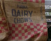 Burlap Feed Sack - Purina Feeds Dairy Chows