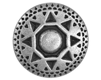 3 Sun Shield 7/8 inch ( 22 mm ) Metal Buttons Antique Silver Color