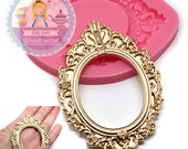 Oval Embellished Frame 464L Silicone Mold Fondant Cake Cupcake decorating Topping Gumepaste fimo Polymer Clay BEST QUALITY
