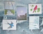 Nature Art Note Cards - 25 pack with Envelopes