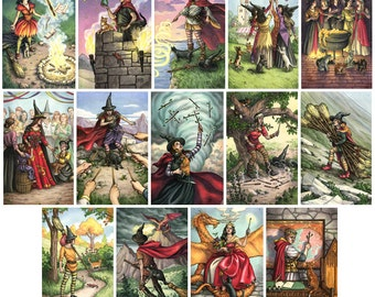 Prints - Everyday Witch Tarot - Choose from Suit of Wands