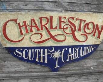 Charleston South Carolina Boat Transom Sign ZD C3