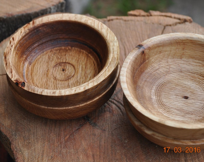 2 Red  Oak small bowls/ash trays   by CBF