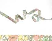 1 yard - Liberty of London Tana Lawn fabric, bias tape - print: Poppy and Daisy B