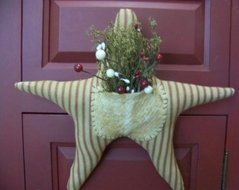 Primitive Patriotic Star Hanger/Door Greeter