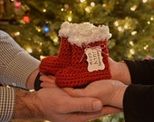 Santa Boots, Red Crochet Boots, Christmas Crochet Booties, Baby Santa Boots, Crochet Santa Boots, Santa Claus Boots, Christmas Booties