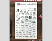 Don't Forget to Clean: Planner Stamp Set