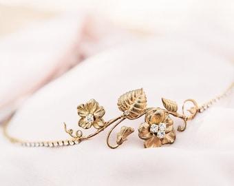Lily Flower Crystal Bridal Headband #229HB
