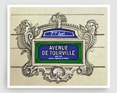 Paris illustration - Avenue de Tourville - Illustration Giclee Fine Art Print Paris Prints Posters Grey Home Decor Architectural Drawing