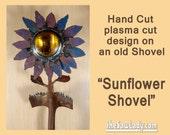 Metal Art Shovel Sunflowe...