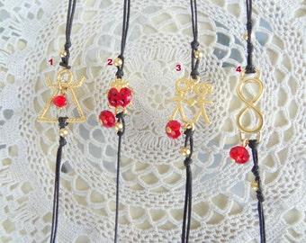 Friendship Bracelet, Girl Bracelet, Gold Bracelet, Black Bracelet, Christmas Gift, Best Friend Birthday