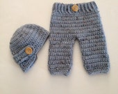 Newborn Boy Outfit,Baby Boy Hat,Crochet Baby Boy Outfit,Diaper Cover,Infant Boy Hat,Newborn Photo Prop,Coming Home Outfit,Made To Order