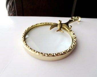 """Magnifying glass necklace - Acorn necklace -2"""" magnifying glass  pendant , Fun and Handy-Trendy and Chic Jewelry"""