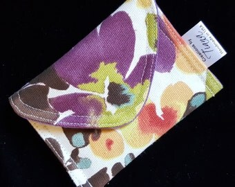Small pouch, Business Card case/pouch, Gift card case, Small case, handmade, Floral print