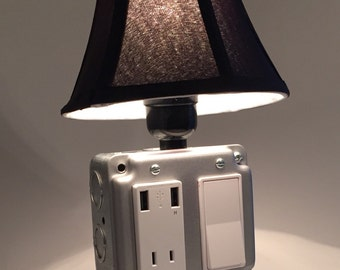 USB Charger/Lamp - Silver Bullet