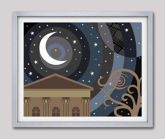 Star Poster, Starry Night, Dark Night Poster, Twinkle Twinkle Little Star, Moonlight Art, Moonlight Design, Moonlight Poster, Moonlight Glow