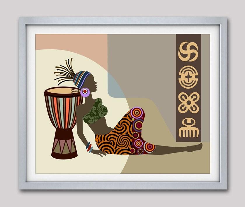 African Wall Decor African Woman African Artwork
