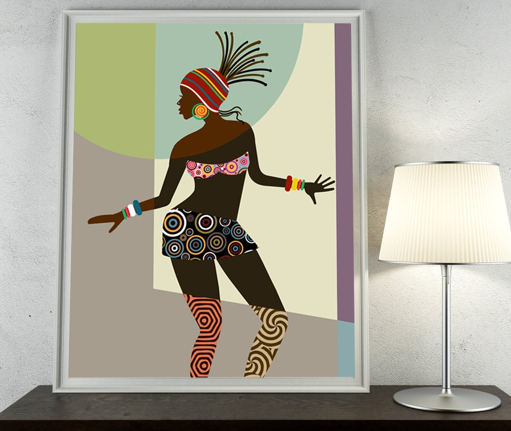 african woman african american art black woman painting. Black Bedroom Furniture Sets. Home Design Ideas
