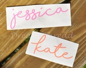 Handwritten Name Decal, Notebook Decal, Laptop Decal, Car Decal, Yeti Decal, Tumbler Decal, Vinyl, Signature (Made to order)