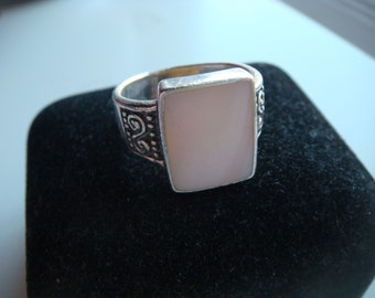 Silver with White Mother of Pearl