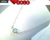 Swarovski Aquamarine Crystal crystal charm, March Birthstone Necklace, crystal pendant,Gemstone, wedding, necklace