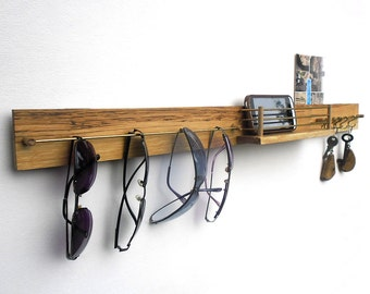key and sunglasses holder with mailbox, entryway organizer