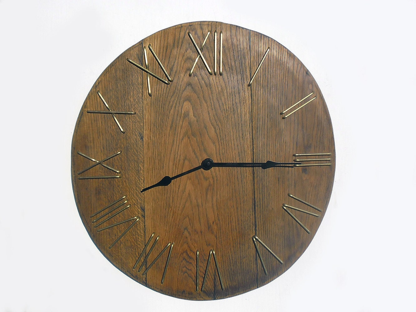 21 39 39 Large Rustic Wall Clock Unique Big Wall Clock