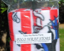 See *Take the Reins Farm* Polo Wrap Store here!  Horse polo leg wraps PIRATES print