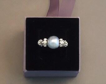 Pearl ring grey