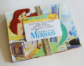 upcycled stationary The Little Mermaid (set of five)