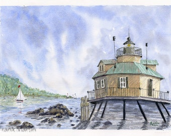 Watercolor Print - Lighthouse