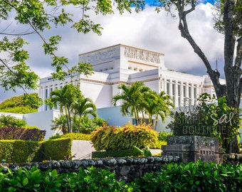 Laie Hawaii LDS Temple Photograph - Digital Download - Printable