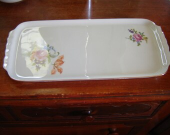 Vintage vanity tray china jewelry tray perfume tea party wedding table decor GDR Von Henneberg collectible porcelain