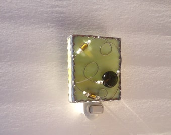 Stained Glass Night Light, Green