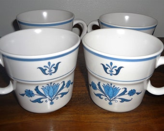 Noritake Blue Haven Cups set of 4 (SALE)