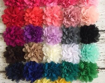 """New! Smaller Chrysanthemum Fabric Flower Heads- You Choose the Color and Quantity - 3.5"""" Mum Flowers"""