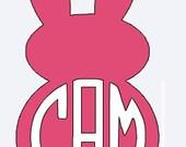 Easter Rabbit Monogram Iron On Vinyl