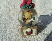 Bear in snow globe  and jack in the box ornament for your Christmas Tree