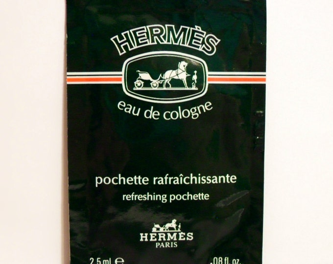 Vintage 1990s Hermes Eau de Cologne 0.08 oz Refreshing Pochette Sample Packet