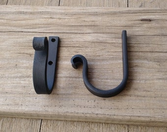 Pack-2, #2 Front Forged Medium Wall Hook, Medals Hook, HandMade Iron hook, Necklace Hook, Child room hook, Iron Hook, Industrial Iron Hook