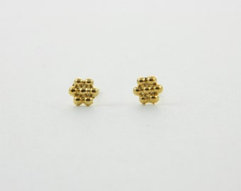 Gold Ball Cluster Studs