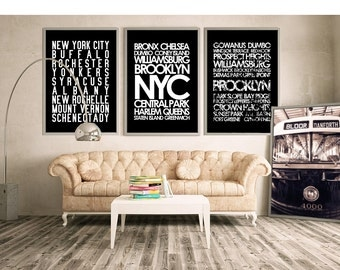 Superior Restoration Hardware Style New York City Wall Art   NYC Subway Sign Art  Canvas Or Print Part 26