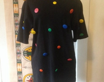 Button shirt size large with shoulder pads
