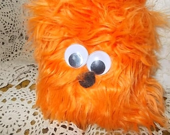 Orange Fuzzy Hairy Fun Dude Guy /Not included in Coupon Sale New Listing