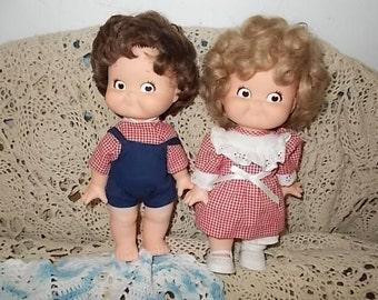 Campbell Soup Dolls Pair, Soup Doll Set, Set of Dolls, Advertising Dolls, Advertising Toys, Vintage Dolls, Dolls, :)S