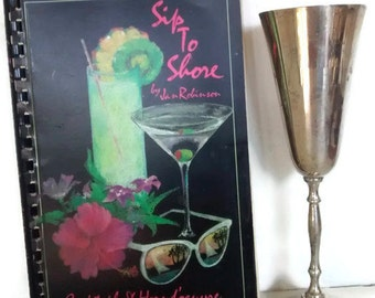 Sip To Shore Caribbean Cocktails and Hors d'oeuvres recipes, Vintage Cookbook, 1980s