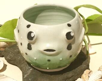 Pufferfish Original Handmade Porcelain Mug