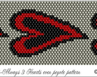 Holidays-Always 3 Hearts Pattern .PDF File